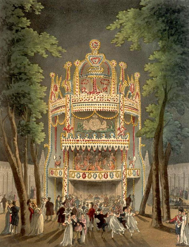 Vauxhall Gardens, from the Microcosm of London, 1810